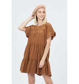 The Best Day Corduroy Babydoll Dress