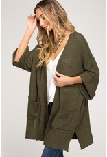 She & Sky Cornelia Pocketed Cardigan