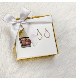 Kendra Scott Kendra Scott Gift Set - Rose Gold Sophia Earrings & Nail Nail Polish