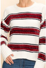 The In A Row Striped Chenille Sweater