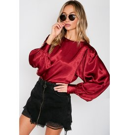 The Holiday Spirit Satin Blouse