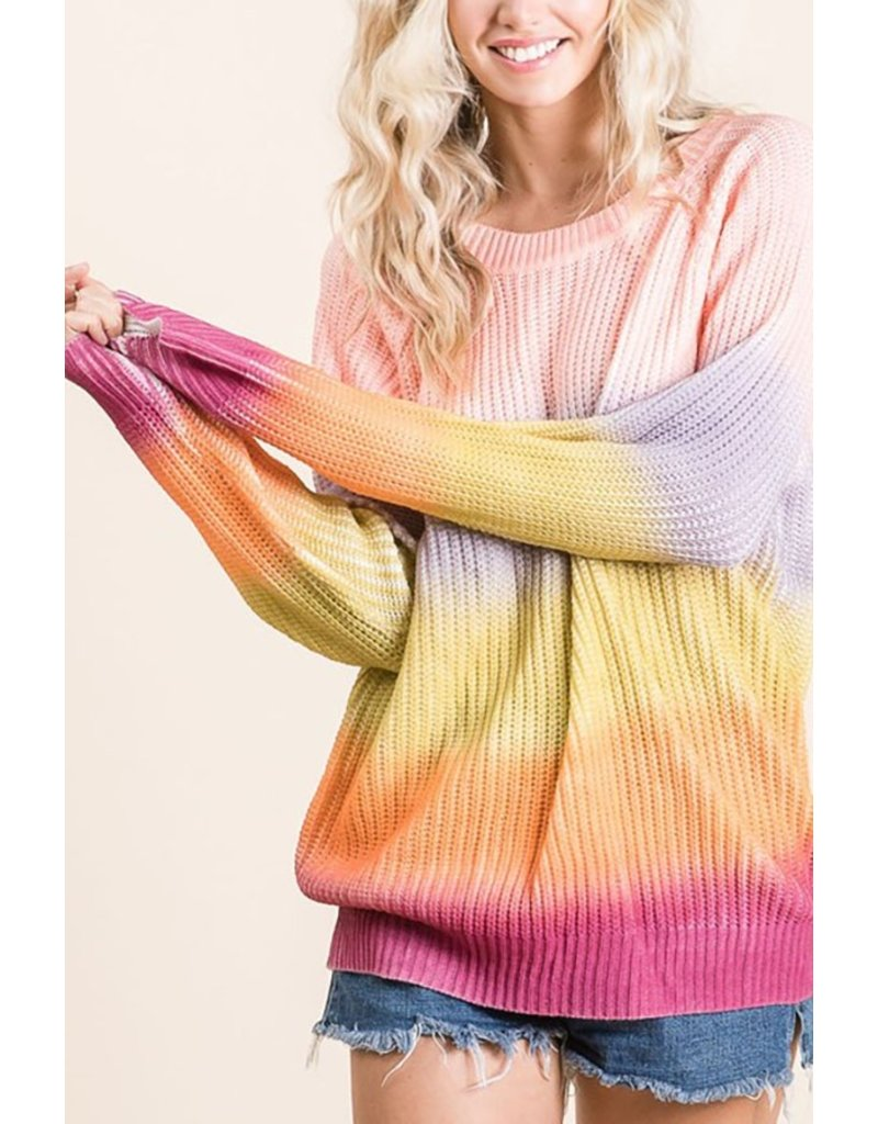 The November Sunsets Ombre Tie Dye Sweater