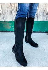 The Anna Knee High Boot - Black