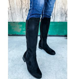 The Anna Knee High Boot - Black