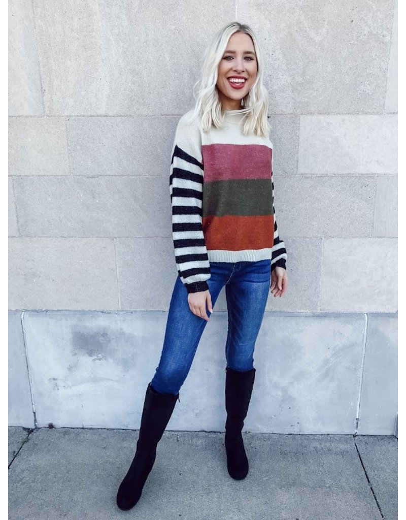 The Take A Moment Striped Sweater