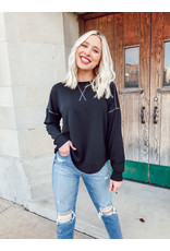 The Always Chillin Long Sleeve Top - Black