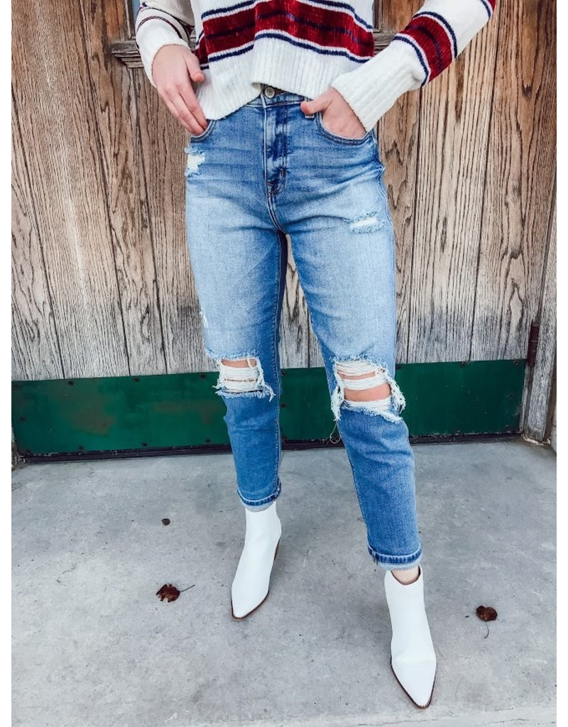 The Rocky Distressed Boyfriend Jeans