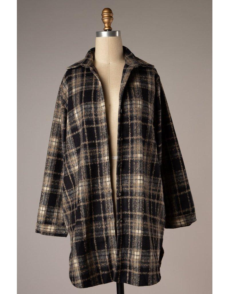The Allison Plaid Button Down Jacket
