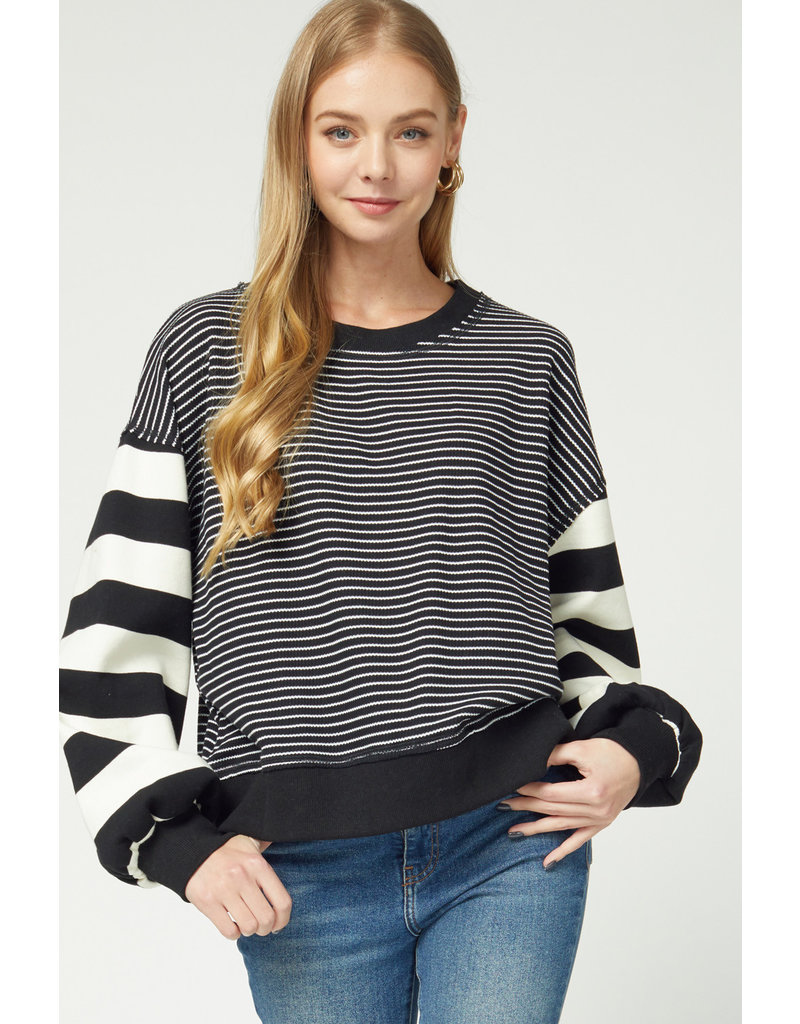 The Good To Be Home Striped Sweater