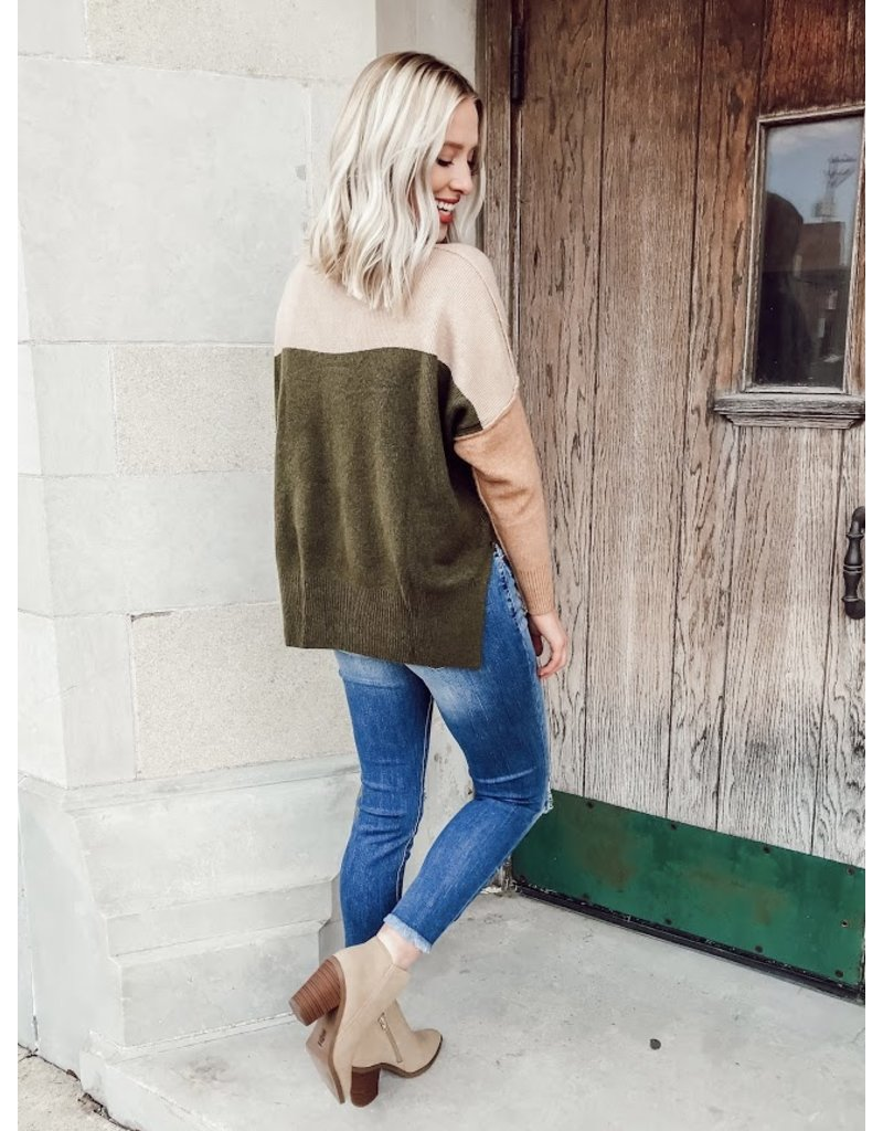 The Style Note Color Block Sweater