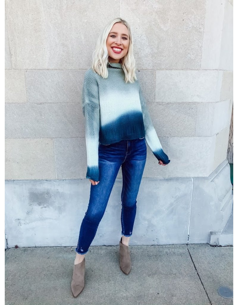 The It's A Colorful Fall Dip Dyed Sweater