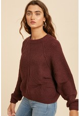 The I'll Take Two Bubble Sleeve Sweater