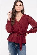 The Sparks Fly Wrap Blouse