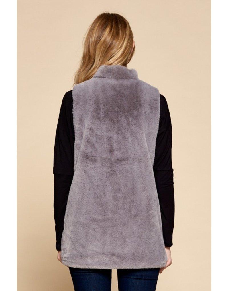 The Center Stage Faux Fur Vest