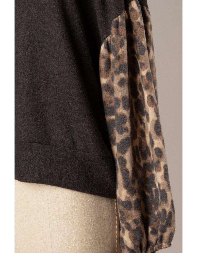 The Confident Leopard Color Block Top