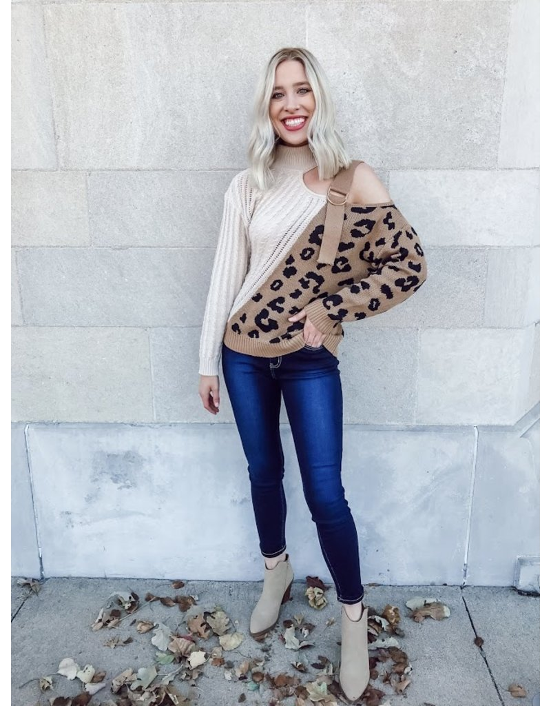 The Season Of Style Buckle Shoulder Sweater