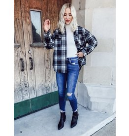 The Plaid About You Button Down Shacket