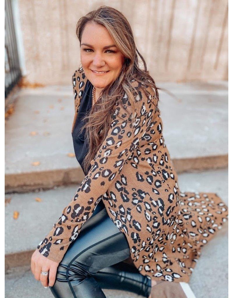 The Nicole Leopard Duster Cardigan
