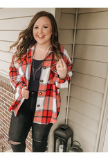 The Alexis Plaid Button Down Shacket