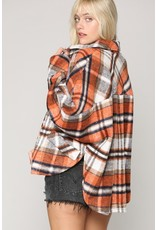 The Lovely Lumber Pocketed Plaid Shacket
