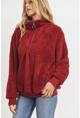 The Here To Cuddle Teddy Quarter Zip Pullover
