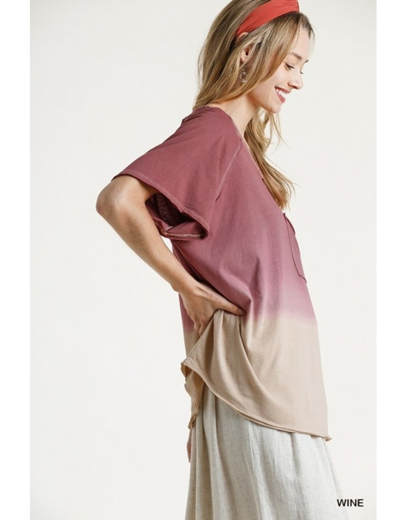 The Emotions Ombre Dip Dye Tee