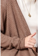 The Enchanted Waffle Knit Cardigan