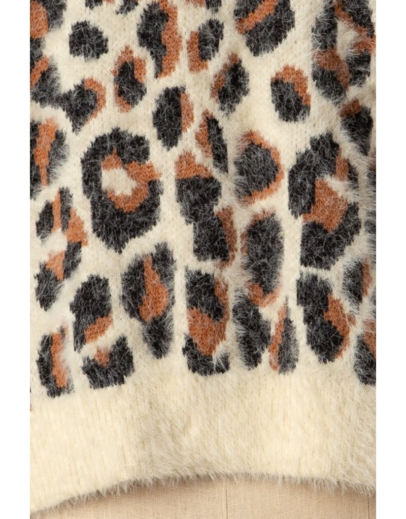 The Carrie Fuzzy Leopard Sweater