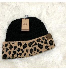 The CC Leopard + Black Beanie