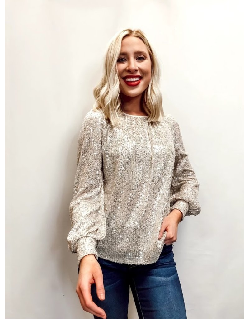 The Anything But Subtle Sequin Top