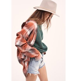 The Classic Plaid Button Down Top