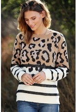 The Wildly Winter Leopard Chenille Sweater