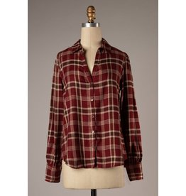 The Over the Moon Plaid Top
