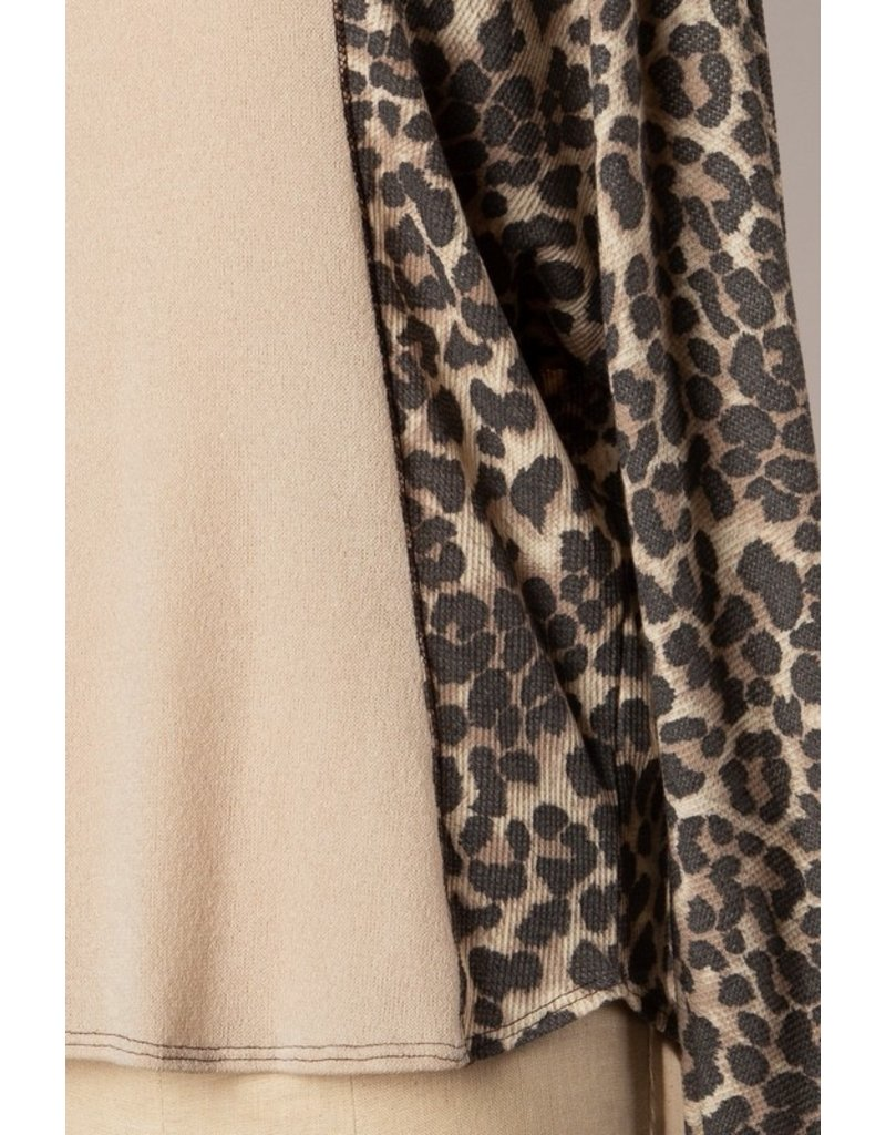 The Keep Me In Mind Leopard Color Block Top