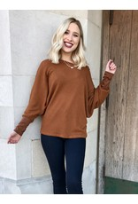The Valerie Waffle Knit Top