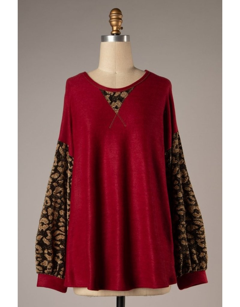 Betsy Leopard Top