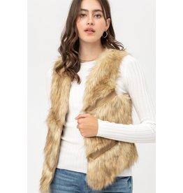 The Caramel Macchiato Faux Fur Vest