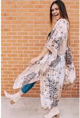 The Courageous Leopard Print Kimono