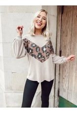 The What You Need Leopard Color Block Top