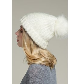 The Soft Fuzzy Ribbed Beanie