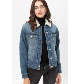The Amanda Sherpa Lined Denim Jacket
