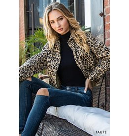The Brittany Cropped Leopard Jacket