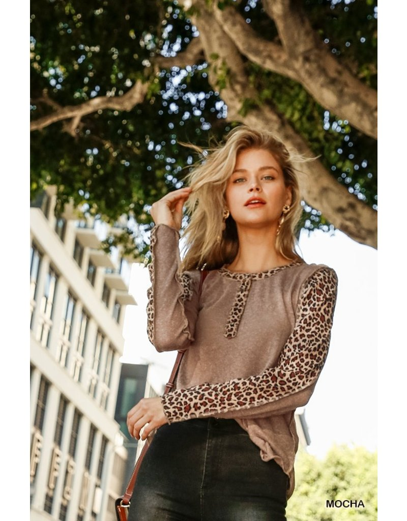 The Katie Leopard Thermal Top