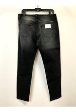 The High Rise Blown Out Knees Skinny - Black