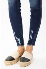 The Dark Wash Ankle Distressed Skinny