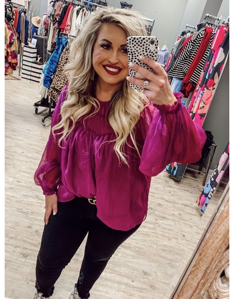 The New Year's Eve Metallic Blouse