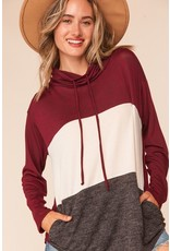 The Lounge Day Color Block Pocketed Top