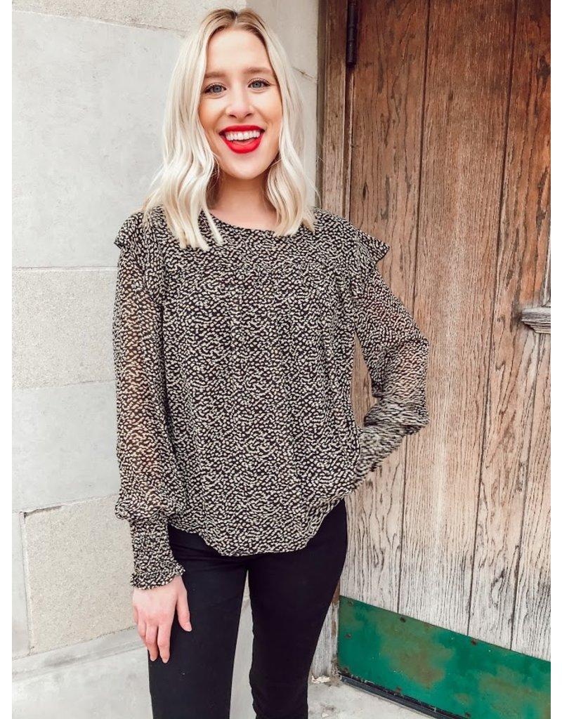 The You're Golden Printed Blouse