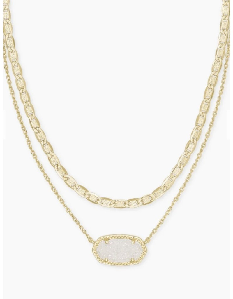 Kendra Scott Elisa Multi Strand Drusy Necklace