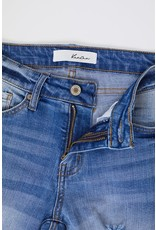 The Carter Distressed Mid Rise Skinny